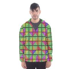 3d Rhombus Pattern Mesh Lined Wind Breaker (men)