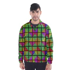 3d Rhombus Pattern Wind Breaker (men)
