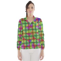 3D rhombus pattern Wind Breaker (Women)