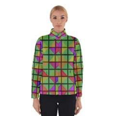 3d Rhombus Pattern Winter Jacket