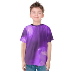 Purple Circles Kid s Cotton Tee