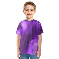 Purple Circles Kid s Sport Mesh Tees