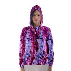 Purple Tree Bark Hooded Wind Breaker (Women)