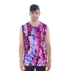 Purple Tree Bark Men s Basketball Tank Top