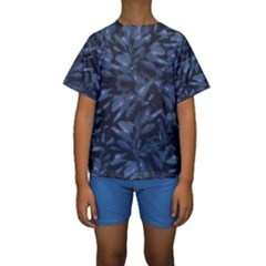 Tropical Dark Patterned Kid s Short Sleeve Swimwear