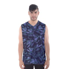 Tropical Dark Patterned Men s Basketball Tank Top
