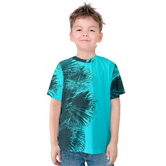 Modern Palm Leaves Kid s Cotton Tee