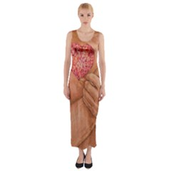 Embrace Love  Fitted Maxi Dress