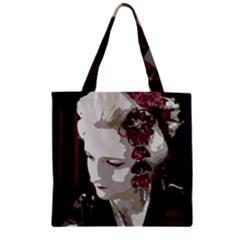 Geisha Zipper Grocery Tote Bags