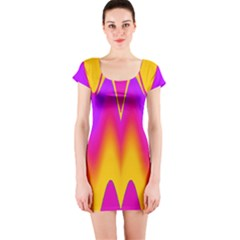 Love to the colors Short Sleeve Bodycon Dress