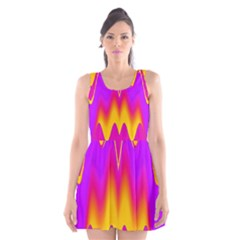 Love to the colors Scoop Neck Skater Dress
