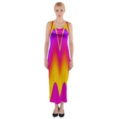 Love to the colors Fitted Maxi Dress
