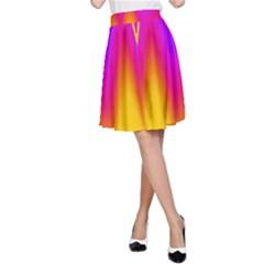 Love to the colors A-Line Skirt