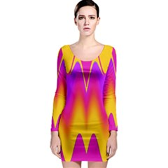 Love To The Colors Long Sleeve Bodycon Dress