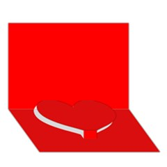 Trendy Red  Heart Bottom 3d Greeting Card (7x5)