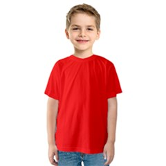 Trendy Red  Kid s Sport Mesh Tees