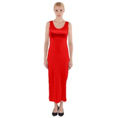 Trendy Red  Fitted Maxi Dress
