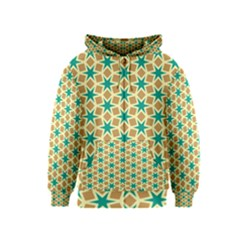 Stars And Squares Pattern Kids Zipper Hoodie