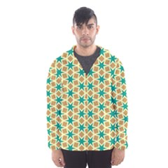 Stars and squares pattern Mesh Lined Wind Breaker (Men)