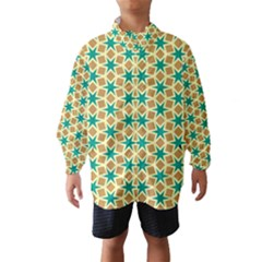 Stars and squares pattern Wind Breaker (Kids)