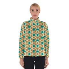 Stars and squares pattern Winter Jacket