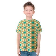Stars And Squares Pattern Kid s Cotton Tee
