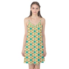 Stars And Squares Pattern Camis Nightgown