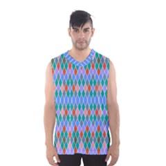 Pastel rhombus patternMen s Basketball Tank Top