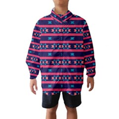 Stripes and other shapes pattern Wind Breaker (Kids)