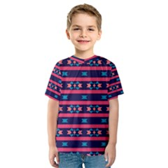 Stripes and other shapes pattern Kid s Sport Mesh Tee