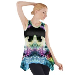 Space Cosmos Black Blue White Red Side Drop Tank Tunic
