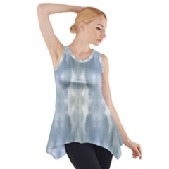 Ice Crystals Abstract Pattern Side Drop Tank Tunic