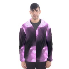 Purple Circles No. 2 Hooded Wind Breaker (Men)