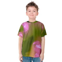 Pink and Green Circles Kid s Cotton Tee
