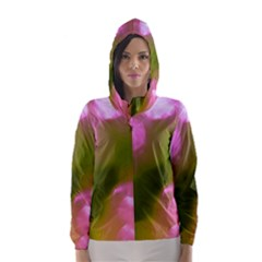 Pink and Green Circles Hooded Wind Breaker (Women)