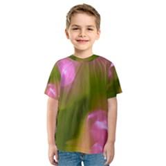 Pink and Green Circles Kid s Sport Mesh Tees