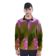 Pink and Green Circles Wind Breaker (Men)