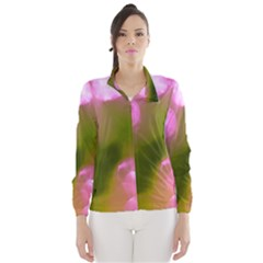 Pink And Green Circles Wind Breaker (women)