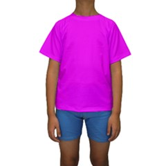 Trendy Purple  Kid s Short Sleeve Swimwear