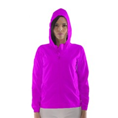 Trendy Purple  Hooded Wind Breaker (women)