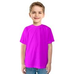 Trendy Purple  Kid s Sport Mesh Tees