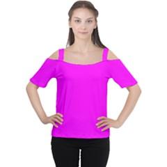 Trendy Purple  Women s Cutout Shoulder Tee