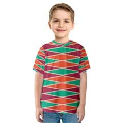 Distorted rhombus pattern Kid s Sport Mesh Tee