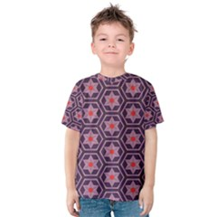 Flowers and honeycomb pattern Kid s Cotton Tee