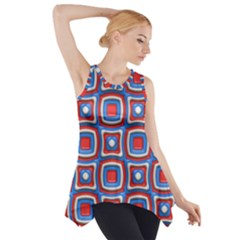3d Squares Side Drop Tank Tunic