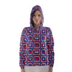 3d squares Hooded Wind Breaker (Women)