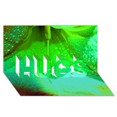 Angels 1 Hugs 3d Greeting Card (8x4)