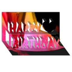 Pink Angel Happy Birthday 3d Greeting Card (8x4)