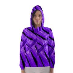 Purple Fern Hooded Wind Breaker (Women)