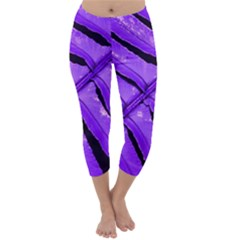 Purple Fern Capri Winter Leggings